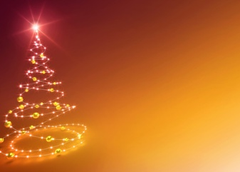abstract gold christmas tree background
