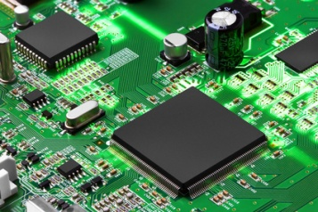 Electronic circuit board with processor