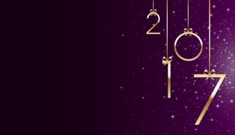 Bonne anne 2017 violet